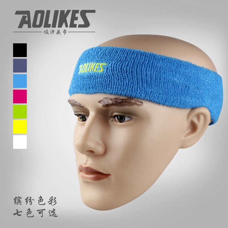 High Quality Cotton Sweat Headband For Sports Men Sweatband women Running Fitness Yoga Hair Bands Head Sweat Bands ...