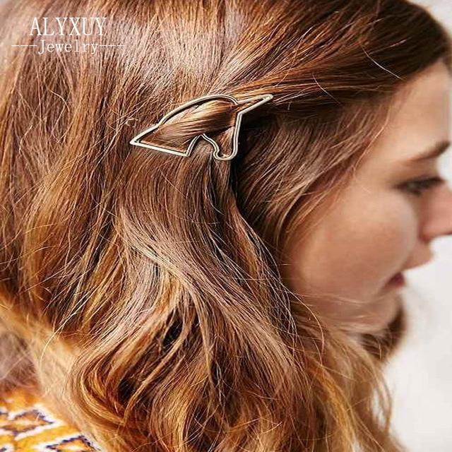 New fashion hairwear ouro cor unicórnio hairpin pentes de cabelo varas do cabelo barrettes presente para as mulheres menina H390