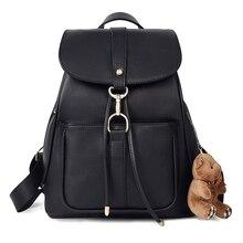 2016 neue Frauen Schwarz Rucksack Adrette Schultaschen Für Frauen Retro und Vintage Rucksack Schüler Schultasche Weibliche Rucksack