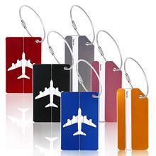 METABLE 12 Pack Aluminum Strip and Airplane Pattern Luggage Baggage Handbag Tag Suitcase Bag Labels Name Address Holder skull pattern luggage bag tag fluorescence green