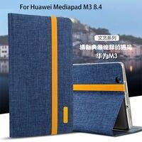 Silicon Cloth PU Leather Case For Huawei MediaPad M3 BTV W09 BTV DL09 8 4 Inch