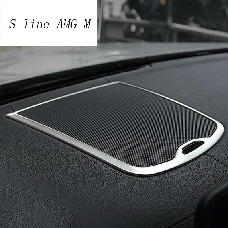 Car styling For <font><b>BMW</b></font> <font><b>X3</b></font> G01 <font><b>2018</b></font> dashboard Central Console Speaker Audio Cover Sticker Frame decoration Interior Auto <font><b>Accessories</b></font> image