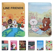 Cute Bear Luxury Nice Elegant Women Passport Holder Cover Russian Animals Travel on the Girls Case