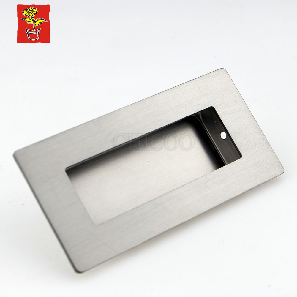 Stainless Steel Square Drawer Pulls Cabinet Kitchen Handles For Cabinets Decorative Furniture Hardware Dresser Flush Pulls 4pcs naierdi c serie hinge stainless steel door hydraulic hinges damper buffer soft close for cabinet kitchen furniture hardware
