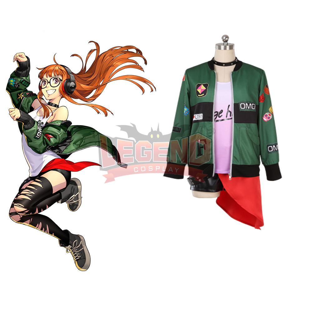 Persona 5 P5D Dancing Star Night Futaba Sakura Cosplay Costume Halloween Suit