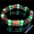 Wholesale 1pcs PICASSO JASPER Chrysoprase STONE BEAD BRACELET STRETCH BANGLE Free shipping