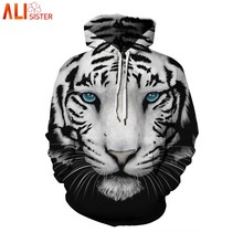 Alisister Animal Print Hoodies Plus Size 3d Tiger Lion Harajuku Sweatshirts Men Women Casual Hooded Pullover Tracksuit Jacket(China)