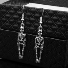 Hot Fashion Skeleton Skull Earrings Biker Jewelry Wholesale Antique Vintage Punk For Women Gift Halloween Earring