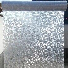 3D diamond Privacy Glass Window Film Stickers Glue-free Static Cling non-adhesive Decorative Office door Home Decor