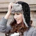 2015 зимняя шапка уха заслонки российских бомбардировщика шапки искусственного лыжный шапочка шляпу крышка для женщин теплую шапку