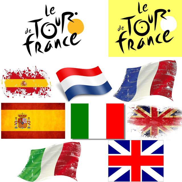 New sale cycling sticker mountain bike skateboard decal bicycle sticker tour de france italy england spain