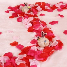 500PCs gold and silver Fake Rose Petals Flower Girl Toss Silk Petal Artificial For Wedding Confetti Party Decoration