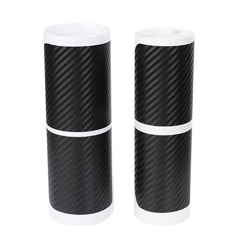 Negro 4D Universal con apariencia de fibra de carbono Umbral de puerta del coche desgaste Anti-Scratch Protector calcomanías de umbral de coche Anti-kick Sticker