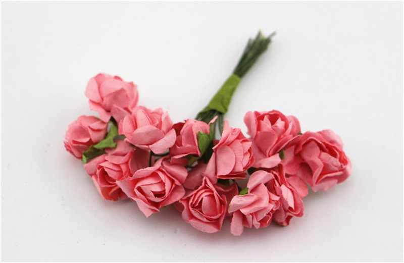 144pcslot 15colors single artificial paper rose flower bouquet diy 144pcslot 15colors single artificial paper rose flower bouquet diy for wedding hand made small flowers scrapbooking decoration in artificial dried mightylinksfo