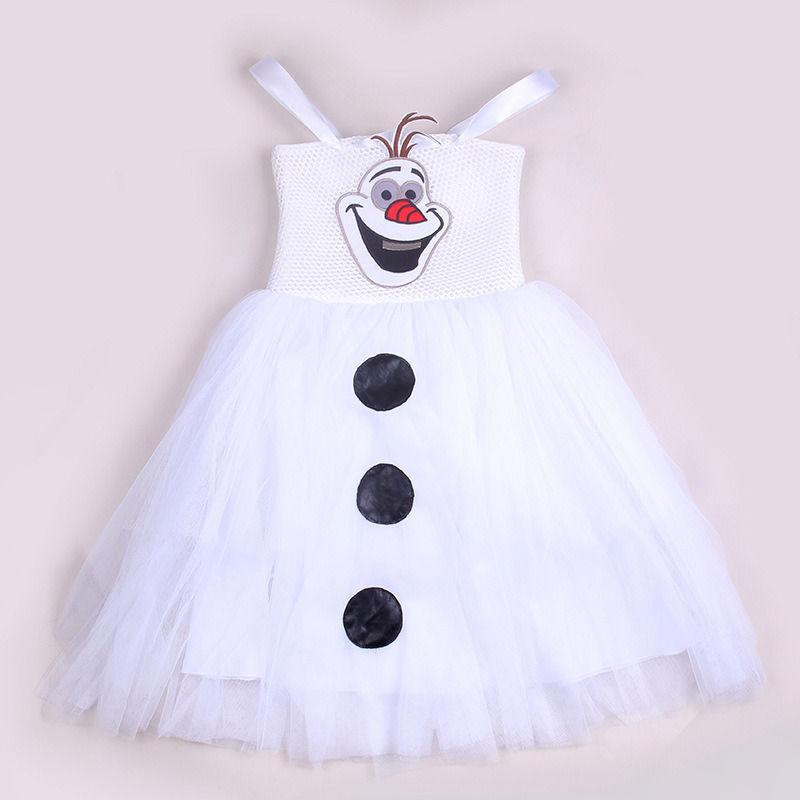 2016 Summer New White Cartoon Snowman Olaf Kids Girls Baby
