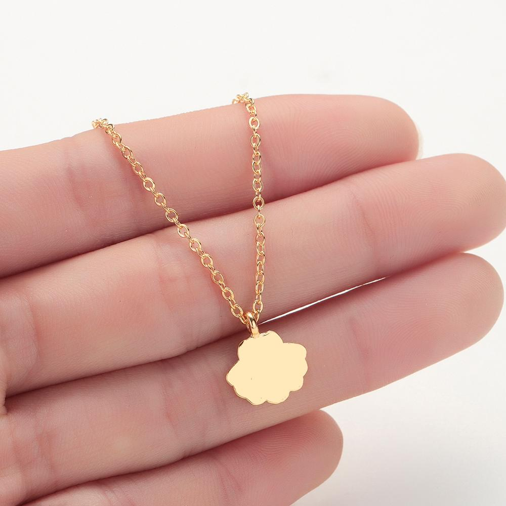 Chereda Delicate Tiny Necklaces for Women Shell Simple Handmade Long Chain Necklace Pendants in Pendant Necklaces from Jewelry Accessories