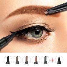 Eyebrow Pencil+Eye Liner Makeup 5 Color 2 In1 Waterproof Long Lasting Eyes Brows Make Up Cosmetic KitM2
