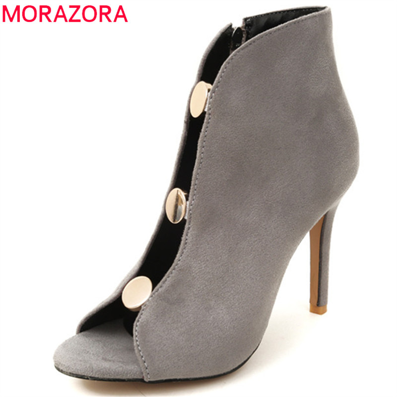 MORAZORA 2019 new arrival women pumps peep toe gladiator shoes sexy super thin high heels party dress shoes woman big size 46 MORAZORA 2019 new arrival women pumps peep toe gladiator shoes sexy super thin high heels party dress shoes woman big size 46