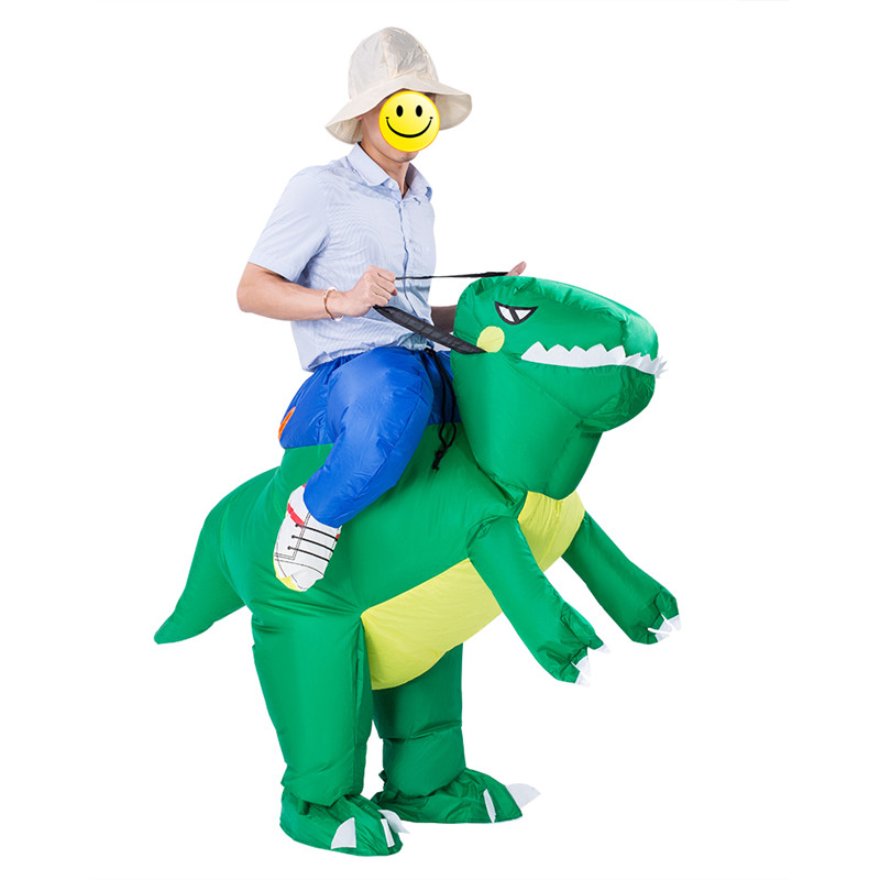 Halloween Inflatable Costume Dinosaur T REX Unicorn Rider Costumes For Adults Blow Up Costume ...