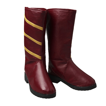 Les Chaussures Flash | La Saison Flash 3 Jesse Rapide Cosplay Bottes Halloween Carnaval Chaussures Cosplay Costume Accessoires Accessoires Chaussures Rouges Femmes Adultes