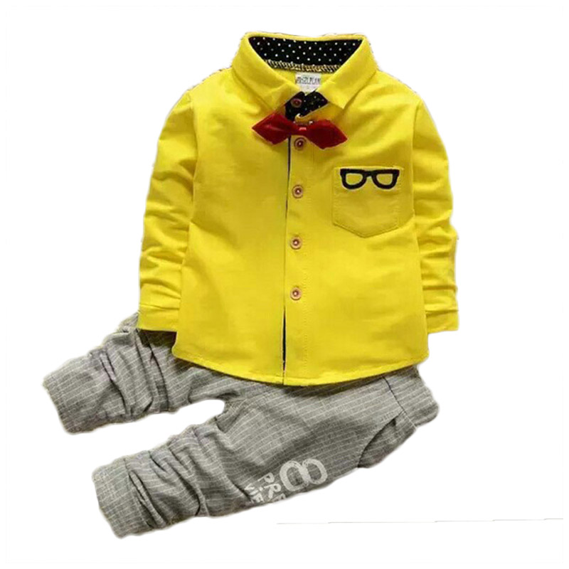 suton Baby Boy Clothes 2018 Summer Boys Sets Children Bow Tie Shirts Cartoon Glasses + Pants Kids Cotton Cardigan Two Piece Suit ang 217 жикле в раме ангелы хранители дома 18х24