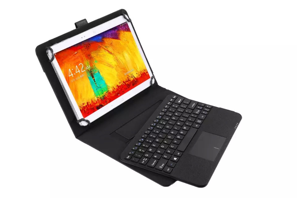 Detachable Wireless Bluetooth Keyboard With Touchpad+PU Leather Case Cover Stand for Samsung Galaxy Tab 4 10.1 T530 AcerB3-A20 new waterproof soft siliocn wireless bluetooth keyboard stand pu leather cover case for samsung galaxy tab 4 10 1 t530 t531 t535