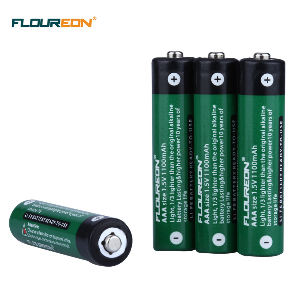 4pcs floureon 1100mah li fe aa li fe aaa battery for mp3 flashlight radio high drain. Black Bedroom Furniture Sets. Home Design Ideas