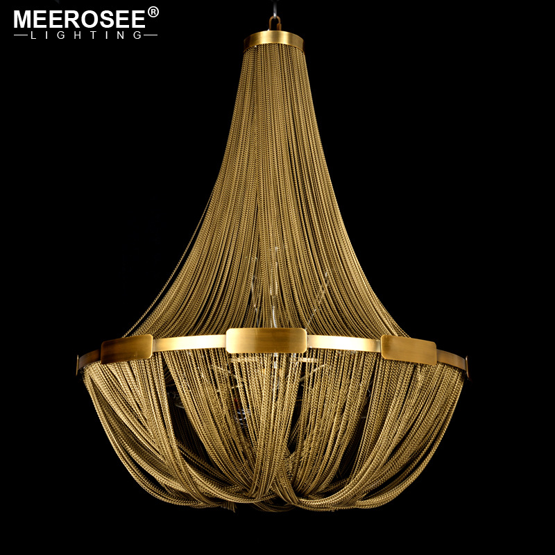 New Arrival Aluminum Chain Pendant Light Empire Bronze Color Post Chain Illumination Hanging Lamp for Living room Hotel Cafe