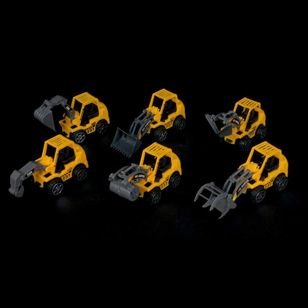 Горячая 1 шт. мини инженерное транспортное средство машина экскаватор детские игрушки мальчики девочки развивающие литье под давлением пластиковые строительные игрушки