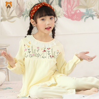 Baby Girls Pajamas Clothes Sets Cotton Long Sleeve Cartoon Girl Pajamas Tops Pants Casual Girls Kids