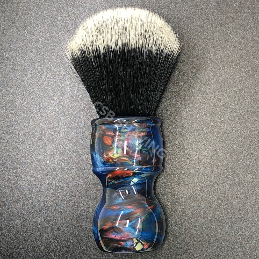 CSB Knot 24mm Tuxedo Synthetic Hair Colourful Resin Handle Shaving Brush Barber Shop Salon Shaves Wet Tool
