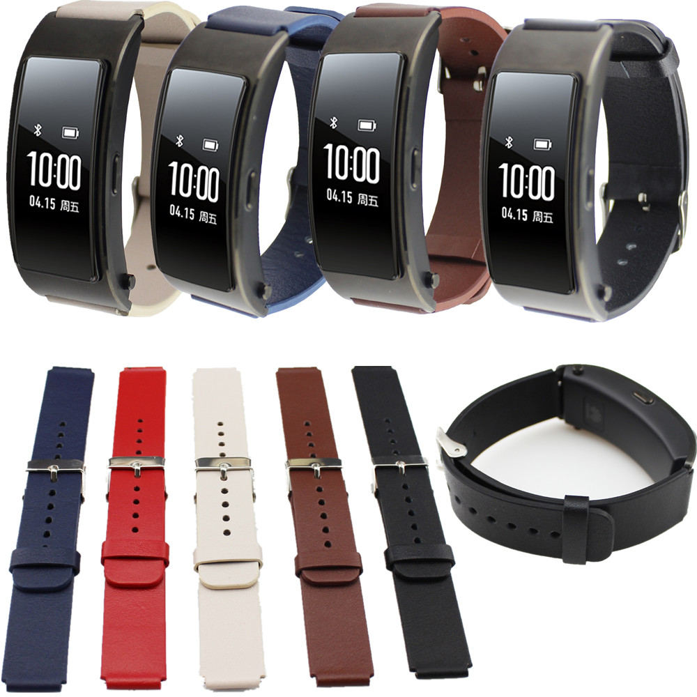 Replacement Genuine Leather Wrist Watchband strap for Huawei Talkband B3 Watch replacement genuine leather wrist watchband strap for huawei talkband b3 watch