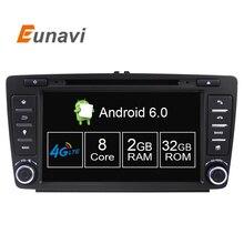 8 Octa ядро 2 Г + 32 Г Dvd-плеер Автомобиля Для Skoda Octavia 2014 2015 A7 Quad Core Android 6.0 GPS Навигации Радио Мультимедиа DAB +