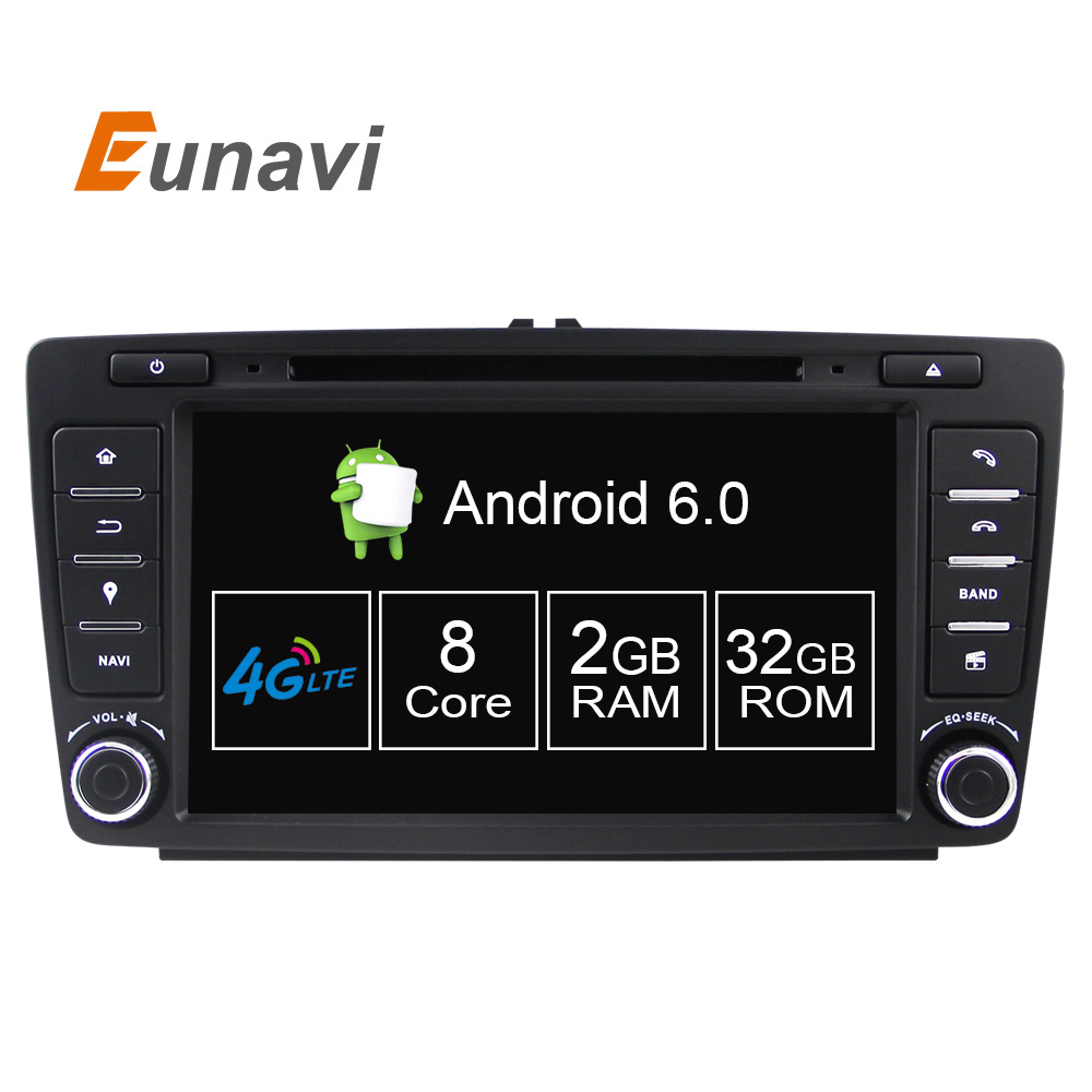 Octa 8 core 2g 32g car dvd player for skoda octavia 2014 2015 a7 quad core android 6 0 gps navigation radio multimedia dab
