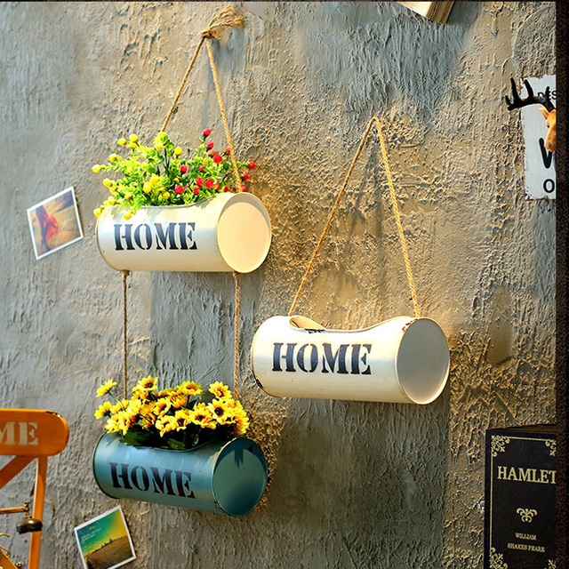 Hanging Wall Flower Pot Vertical Garden Planting Pot Cylinder Display System for Succulent Planter Decorative Cactus Small Plant