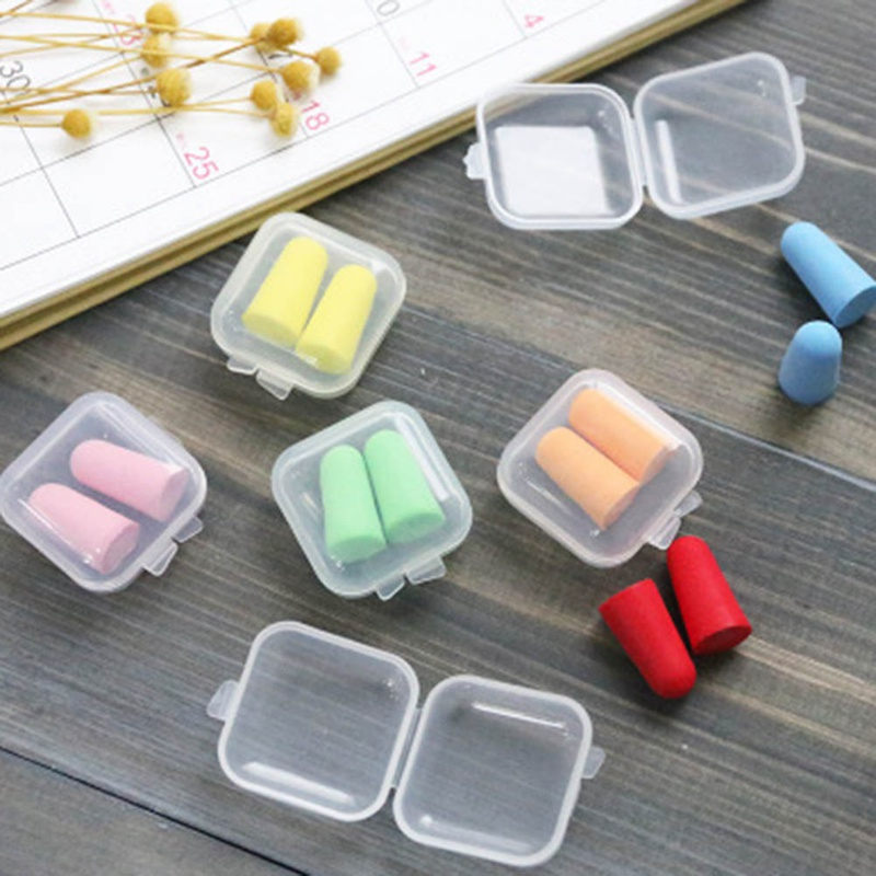 Comfort Earplugs Noise Reduction Foam Soft Ear Plugs Box-packed Earplugs Protective For Sleep Slow Rebound Earplugs