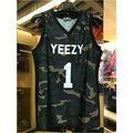2016 Kanye West yeezy hiphop jersey 1 Merchandising mens camo chaleco hip top sin mangas de los hombres ropa de alta calidad