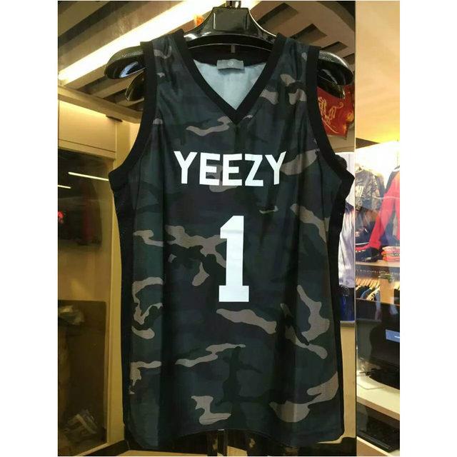 7229b725bd07c 2016 hiphop Kanye West yeezy jersey 1 Merch mens camo vest hip top tank top  men