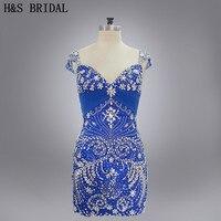 Hot Sale Sweetheart Cap Sleeves Sexy Beaded Floor Length Chiffon Short Prom Dresses 2017