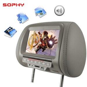 Image 2 - ユニバーサル 7 インチ車のヘッドレスト MP4 モニター/マルチメディアプレーヤー/シートバック MP4/usb sd MP3 MP5 fm 内蔵スピーカー