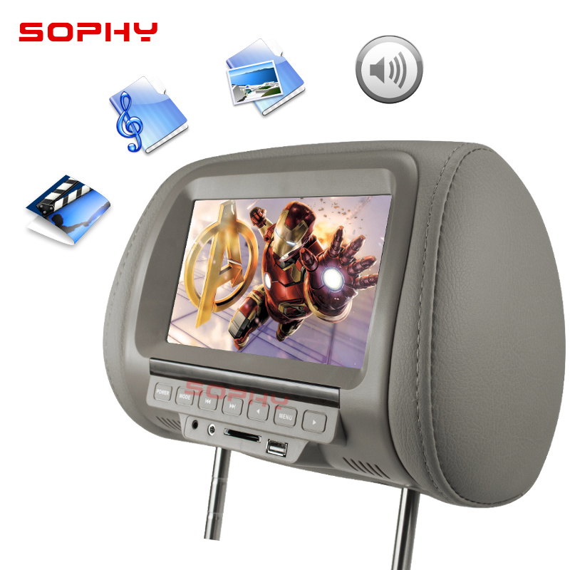 Image 2 - Universal 7 inch Car Headrest MP4 Monitor / Multi media Player / Seat back MP4 / USB SD MP3 MP5 FM Built in Speakers-in Car Monitors from Automobiles & Motorcycles