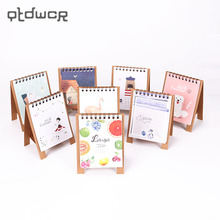 1PC Cute Little Fresh Cartoon Animals Series Mini Table Desk Calendar Office Learning Schedule Table for Kids Study Planning