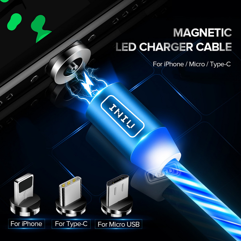 INIU Flow Luminous Lighting Magnetic USB Cable For iPhone