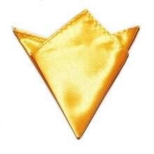 Сплошной цвет Карманный квадратный копия шелковое полотенце желтый золотой платок