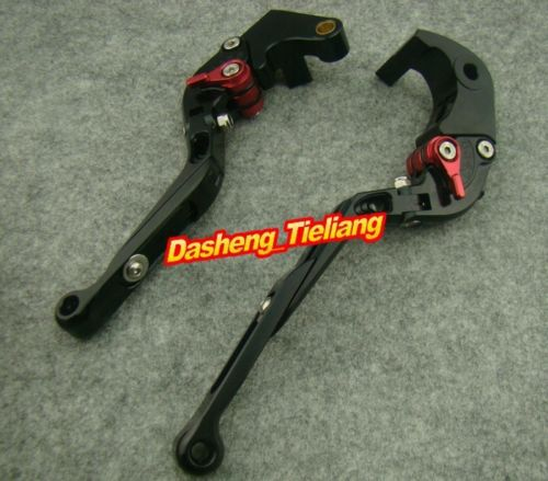 ФОТО Foldable Brake Clutch Levers For  2007-2012 CBR600RR & 2008-2011 CBR1000RR Black + Red, China Spare Parts Accessory Manufacturer