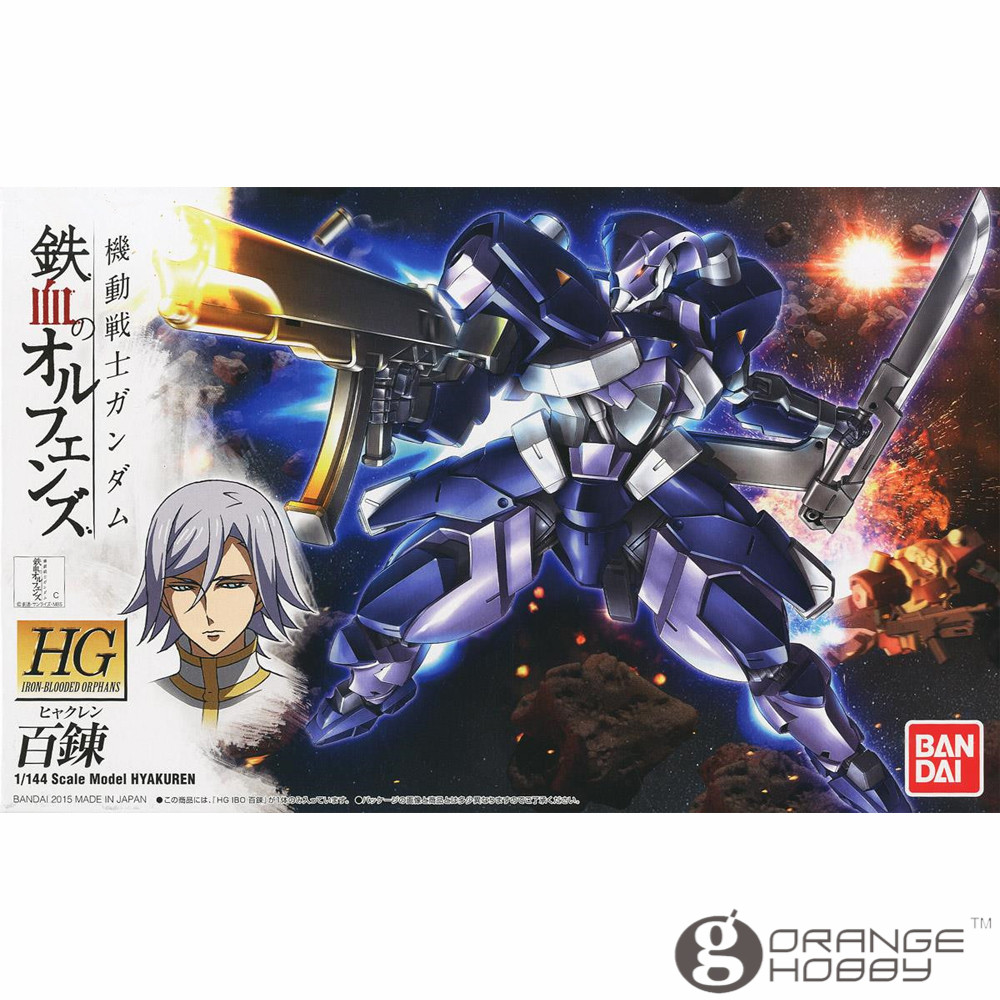 OHS Bandai HG Iron-Blooded Orphans 006 1/144 Hyakuren Mobile Suit Assembly Model Kits ohOHS Bandai HG Iron-Blooded Orphans 006 1/144 Hyakuren Mobile Suit Assembly Model Kits oh