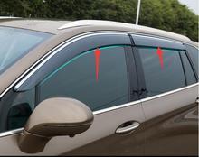 цена на for buick envision 2014-2018 window visor car rain shield awning trim cover Side Window Deflector Door Rain Sun Shield