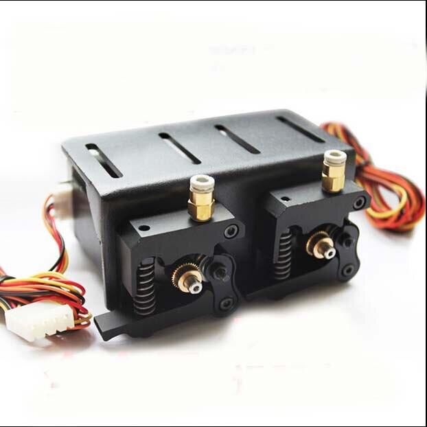 3D imprimante accessoire compact extrudeuse 3D imprimante double tête d'impression extrudeuse MK8 kossel rostock delta ultimaker MK9