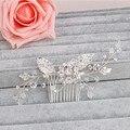Stunning Crystal Handmade Bridal Hair Accessories Comb Rhinestone Wedding Jewelry Headpiece