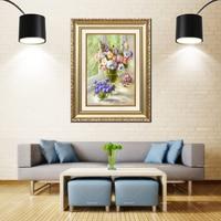 Artcozy Golden Frame Abstract georgius jacobus johannes van os paintings Waterproof Canvas Painting